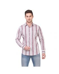 DesignUp Red Stripes Shirt for Men's-022