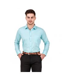 DesignUp Green Solid Shirt for Men's-018