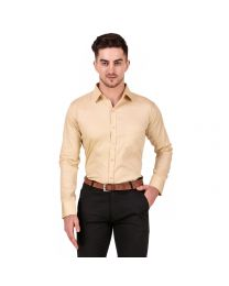 DesignUpBrown Solid  Shirt for Men's-019