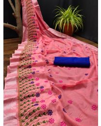 Fancy Heavy embroidery cotton saree-009