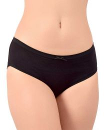 TEUSY  Women Hipster Black Panty