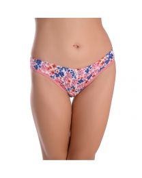 TEUSY Multicolor Printed Women Thermal Hipster Purple Panty-0033