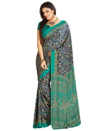 Amam Multicolor Printed Crepe Saree for Women's-0064