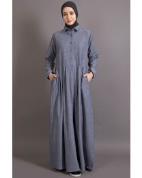 NAZNEEN shirt collar executive  Abaya