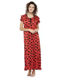 Creer Fashion Red Free Size Tall Night Wear CFT-003