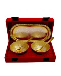 MSW Brass Gold Plated Bowl - Pack of 2