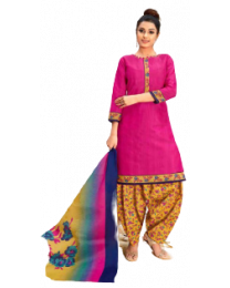 Harihar Pink Color unstitched Suit For Women's and girl's