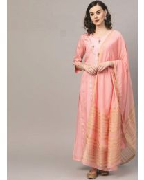 Navya Creation Pink Gown Kurti with Dupatta & Plazzo- NC-005