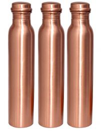 INC Plain Copper Water Bottle (Pack of 3)