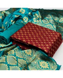 Nice Colours And Combinations Evergreen Beautiful Designer Unstitched Suit-046