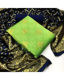 Nice Colours And Combinations Evergreen Beautiful Designer Unstitched Suit-048