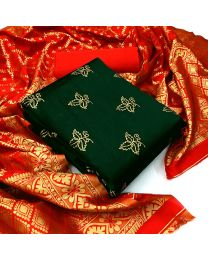 Nice Colours And Combinations Evergreen Beautiful Designer Unstitched Suit-050