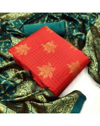 Nice Colours And Combinations Evergreen Beautiful Designer Unstitched Suit-058