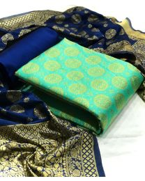 Nice Colours And Combinations Evergreen Beautiful Designer Unstitched Suit-025