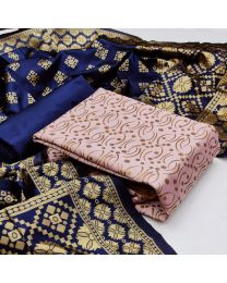 Nice Colours And Combinations Evergreen Beautiful Designer Unstitched Suit-027