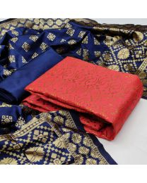 Nice Colours And Combinations Evergreen Beautiful Designer Unstitched Suit-032