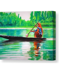 Boat Ride- Fine Art Canvas Print- Wall Art- Stretched