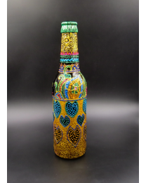 Colorful Beckoning Love Hand Painted Decorative Bottle Vase