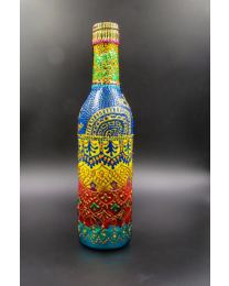 Hand painted decorative glass bottle light 16