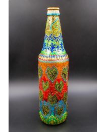 hand painted decorative glass bottle light 13