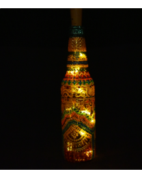 handpainted decorative bottle light 7