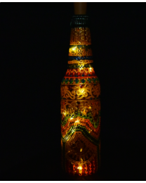 Hand painted decorative bottle light 3
