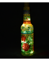 Hand painted decorative bottle light 2
