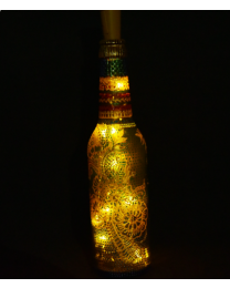Hand painted decorative bottle light 1