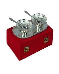 INS Silver Plated Bowl set (Set of 2)