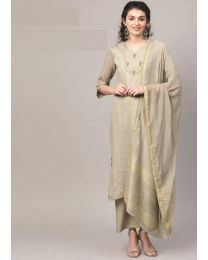 Navya Creations Grey Kurti With Dupatta & Plazzo- NC-008