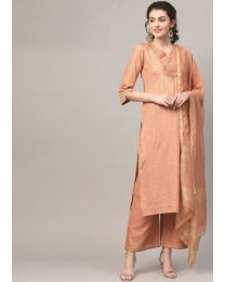 Navya Creations Brown Kurti with Dupatta & Plazzo- NC-009