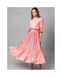 Navya Creations Gown Pink Gown Kurti -NC-0032