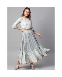 Navya Creations Grey Gown Kurti-NC-0033