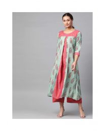 Navya Creations Multicolor  Kurti With Plazzo -NC-0087
