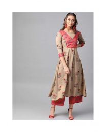 Navya Creations Multicolor Kurti With Plazzo- NC-0088