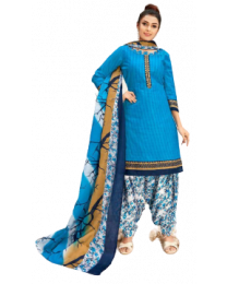 Harihar Sky blue unstitched Suit for women's and Girl's