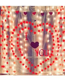 Valentine Led curtains