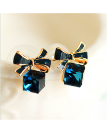 No Mercy Cute Blue Stone Studs