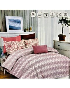 City Designed Printed Cotton Double Bed Sheet