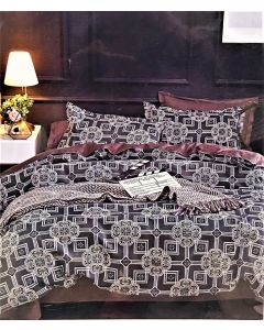 City Mulicolor Double Bed Sheet Set of 3 Pcs
