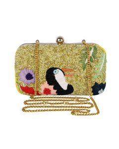 Evening Bag for Women, Floral Wedding Evening Hand carry Purse Bride Party Clutch Bag-OLD-12