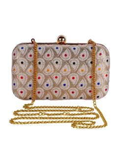 Evening Bag for Women, Floral Wedding Evening Hand carry Purse Bride Party Clutch Bag-OLD-5