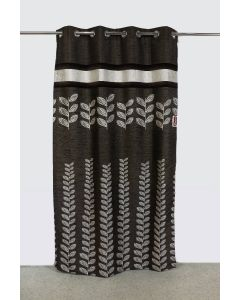 City Black Long curtain (9ft) Pack of 2