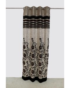 City Black Long Curtain Pack of 2